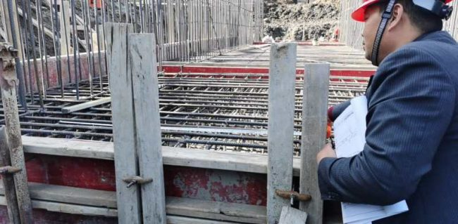 泰兴市滨江镇飞鸿闸站工程基坑验槽